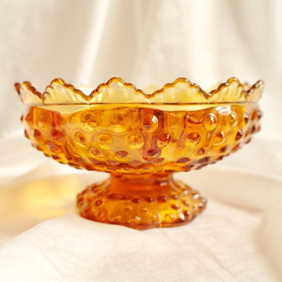 Amber Glass Candelabra